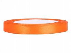Stuha saténová oranžová 6 mm x 25 m