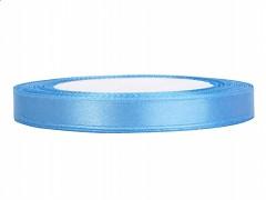 Stuha saténová světle modrá 6 mm x 25 m