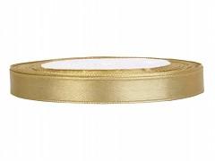 Stuha saténová zlatá 6 mm x 25 m