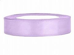 Stuha saténová světle fialová lila 12 mm x 25 m