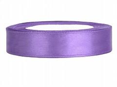 Stuha saténová světle fialová 12 mm x 25 m