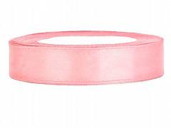 Stuha saténová světle růžová 12 mm x 25 m