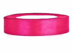 Stuha saténová sytě růžová 12 mm x 25 m