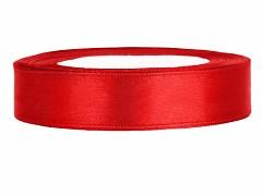Stuha saténová červená 12 mm x 25 m