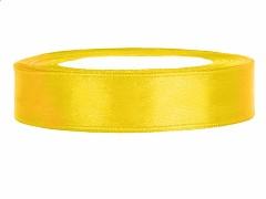 Stuha saténová žlutá 12 mm x 25 m