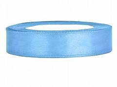 Stuha saténová světle modrá 12 mm x 25 m