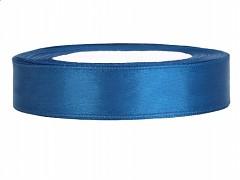 Stuha saténová modrá 12 mm x 25 m