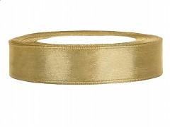 Stuha saténová zlatá 12 mm x 25 m