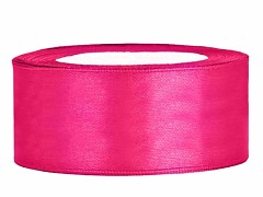 Stuha saténová sytě růžová 25 mm x 25 m