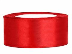 Stuha saténová červená 25 mm x 25 m