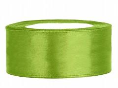 Stuha saténová světle zelená 25 mm x 25 m