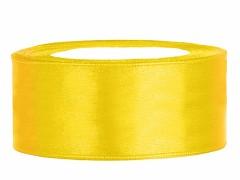 Stuha saténová žlutá 25 mm x 25 m