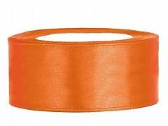 Stuha saténová oranžová 25 mm x 25 m