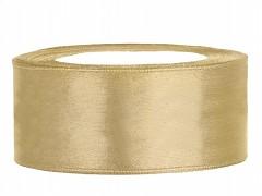 Stuha saténová zlatá 25 mm x 25 m