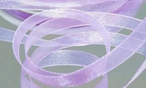 Šifónová světle fialová stuha 6 mm x 25 m