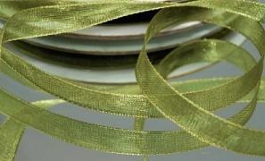 Šifónová olivově zelená stuha 6 mm x 25 m