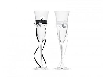 Svatební skleničky nevěsta a ženich
