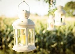 Lucernička na svíčku bílá