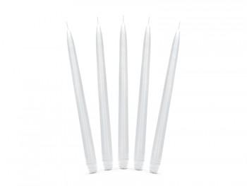 Kónická svíčka bílá