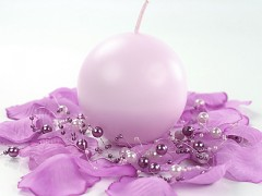 Svíčka koule světle fialová lila ø 60 mm