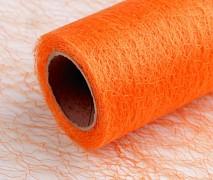 Organza pavučinka 30 cm x 9 m oranžová
