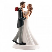 Nevěsta a ženich tančící waltz - svatební figurky
