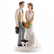 Nevěsta a ženich fotbalista - svatební figurky
