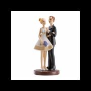 Ženich a nevěsta v krátkých šetech  - svatební figurky