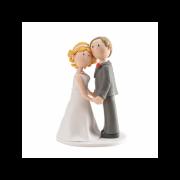 Nevěsta a ženich držící se za ruce - svatební figurky