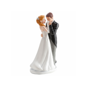 Nevěsta a ženich líbající ruku - svatební figurky