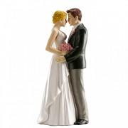 Nevěsta a ženich v objetí - svatební figurky