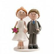 Nevěsta a ženich s rukou v kapse - svatební figurky