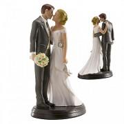 Nevěsta a ženich zaslepeni láskou - svatební figurky