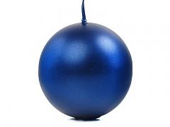 Svíčka koule tmavě modrá perleťová ø 80 mm