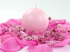 Svíčka koule světle růžová ø 60 mm