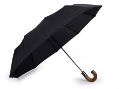 Deštník černý pánský skládací