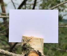 Jmenovka kartička bílá