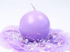 Svíčka koule světle fialová ø 80 mm