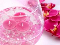 Perličky na silikonu světle růžové