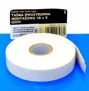 Pěnová oboustranná lepící páska 18 mm x 5 m
