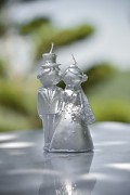 Svíčka Nevěsta a ženich stříbrná perleťová