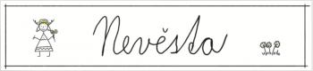 Cedulka SPZ kreslená Něvesta