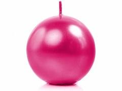 Svíčka koule sytě růžová perleťová ø 80 mm