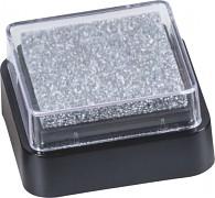 Razítkovací polštářek stříbrný
