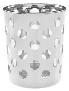 Svícny bílé s puntíky skleněné 2 ks