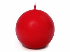 Svíčka koule červená ø 80 mm