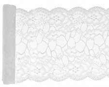Premium krajka bílá 18 cm x 3 m
