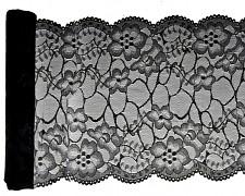 Premium krajka černá 18 cm x 3 m