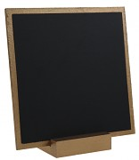 Dřevěná tabulka zlatá 13 x 13 cm