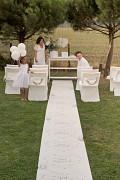 Svatební koberec bílý Just married 75 cm x 10 m